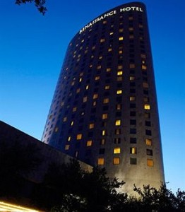 The Renaissance Hotel at dusk