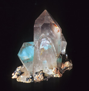 Dr. Bruce Cairncross Specimen and Photo, quartz with inclusions from the Messina Mine, South Africa