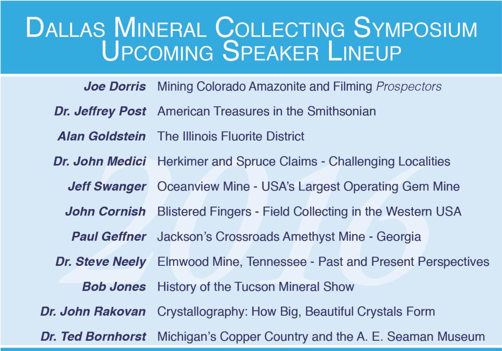 2016 Dallas Symposium Speakers