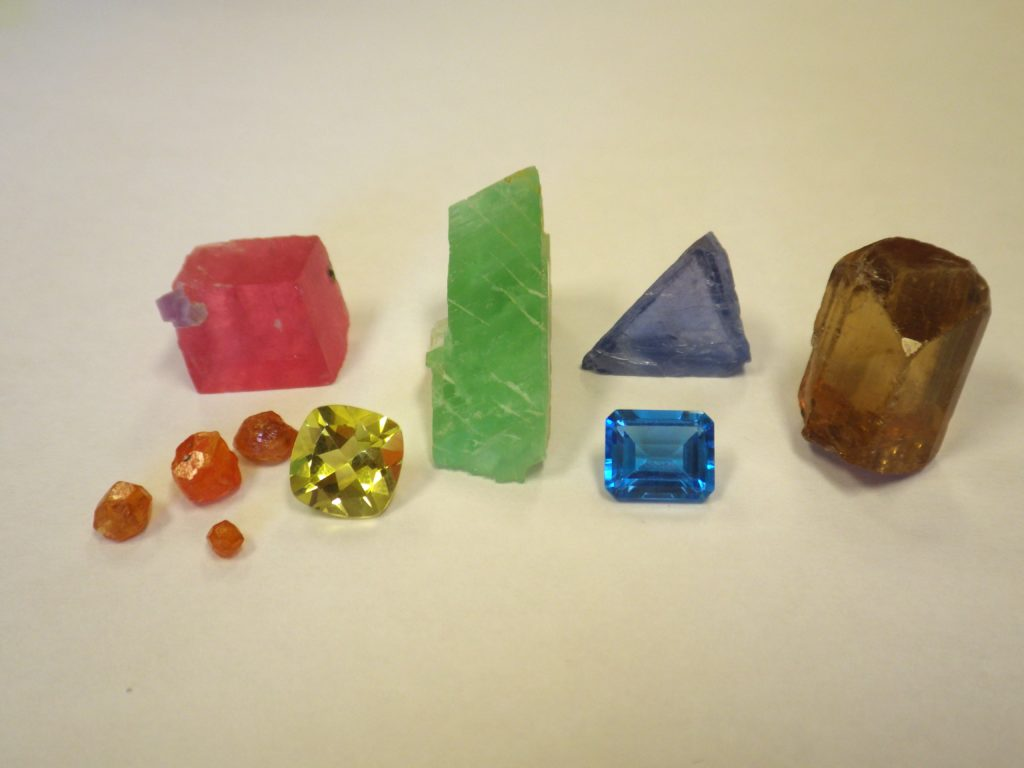 Color in minerals - a rainbow of color
