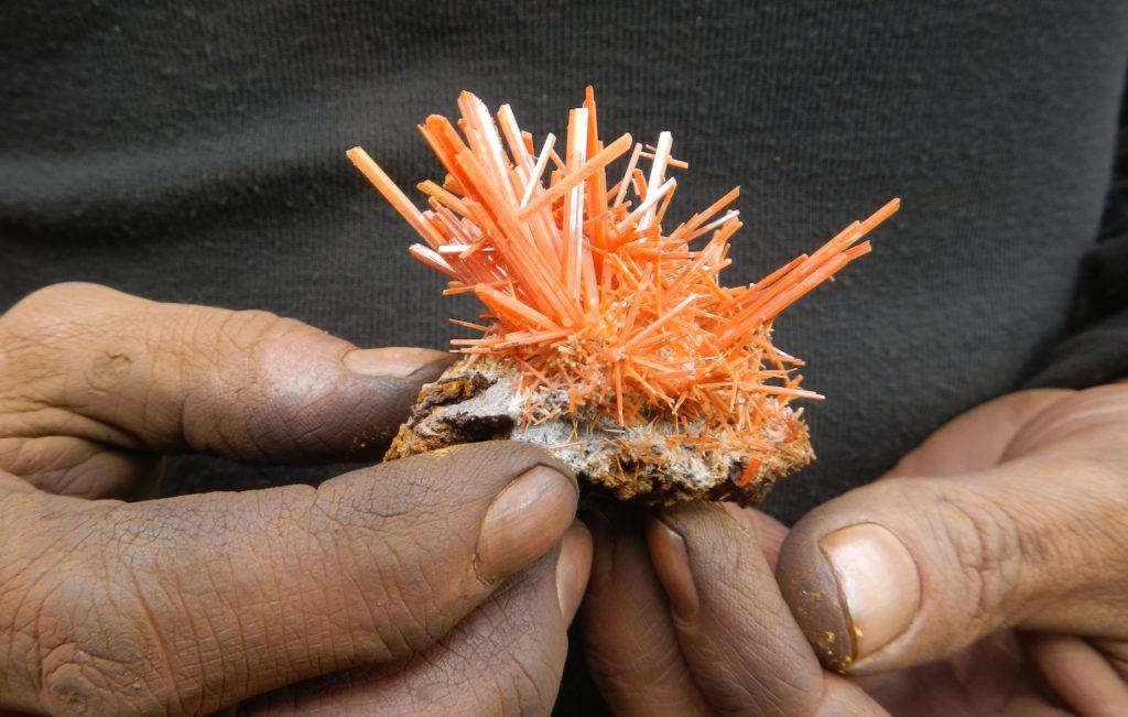 John Cornish's lecture at the Dallas Mineral Collecting Symposium will focus on orange crocoite from Australia.