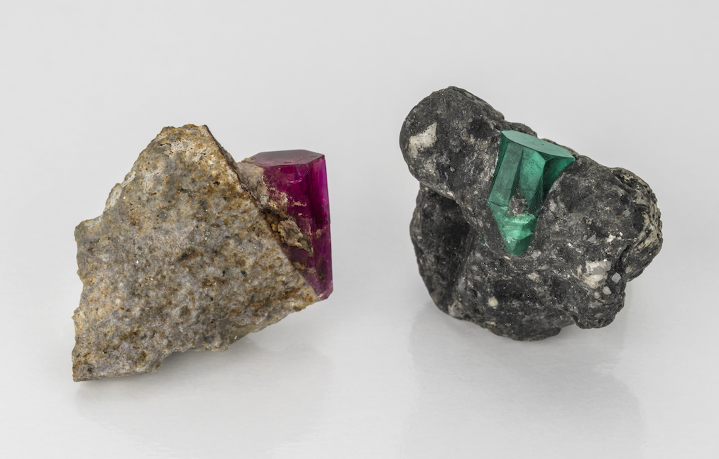 The Zajicek family focuses on sourcing fine bixbite and Colombian emeralds