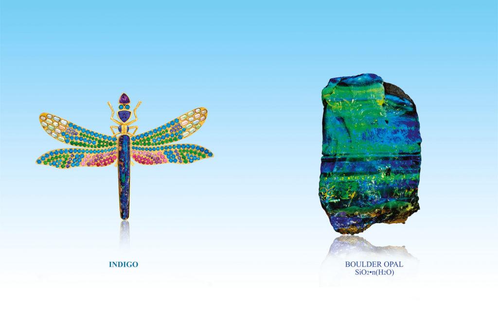 Paula Crevoshay - Opal work, Indigo the Damselfly